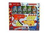 FB FunkyBuys Kids Twin Gun Tin Can Alley Fun Shooting Target Game Childrens - 8 Soft Safe Foam Dart Play