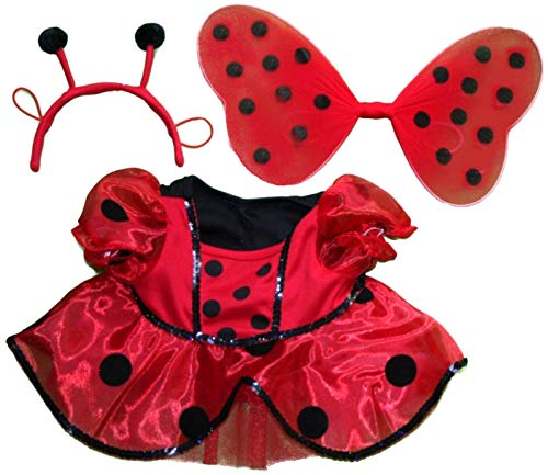 Ladybug Costume with Wings Outfit Teddy Bear Clothes Fits Most 14