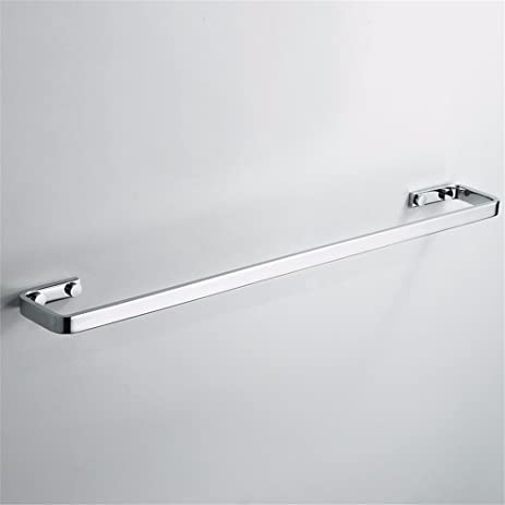 qingv towel rails bathroom accessories towel bar wide copper chrome towel rack single rod towel bar - Bathroom Accessories Towel Rail