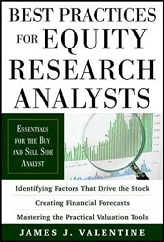 Best Practices For Equity Research Analysts: Essentials For Buy Side And  Sell Side Analysts: James J. Valentine: 9780071736381: Amazon.com: Books