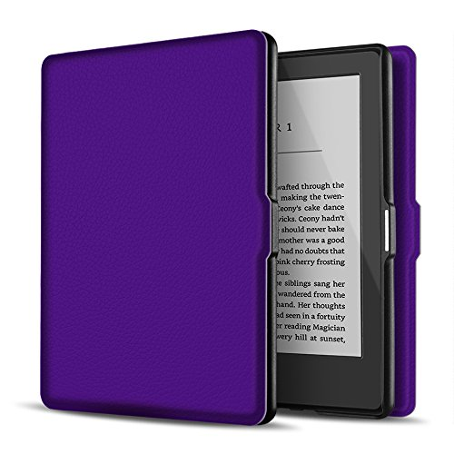 TNP Case for Kindle Paperwhite - Slim & Light Smart Cover Case with Auto Sleep & Wake for All-New Amazon Kindle Paperwhite Fits All 2012, 2013, 2015 and 2016 Versions (Purple)