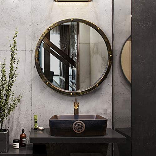 ヴィンテージ錬鉄洗面鏡、バスルームアンティークラウンド、50センチメートル JZ02/22