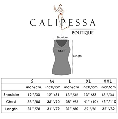 CALIPESSA Women's Summer Casual Simple Loose Swing Beach Tank Sundress
