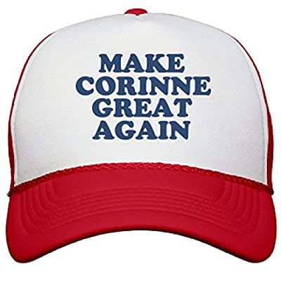Make Corinne Great Again Hat: Snapback Mesh Trucker Hat