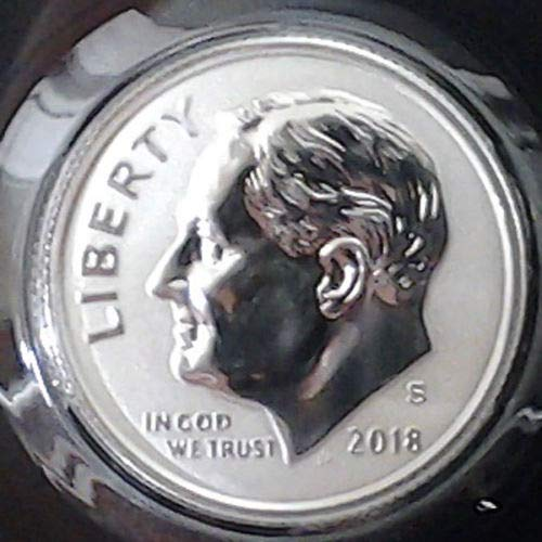2018 S Roosevelt Dime 2018 S Silver Reverse Proof Roosevelt Dime Rare only 200000 Minted Dime Gem US Mint DCAM