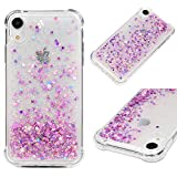 iPhone Xr 6.1 inch Case, Liquid Phone Case for Girls,GEMYON Fashion Creative Design Flowing Liquid Floating Luxury Bling Glitter Sparkle Diamond Hard Clear Case Compatible for iPhone Xr 6.1 inch 2018
