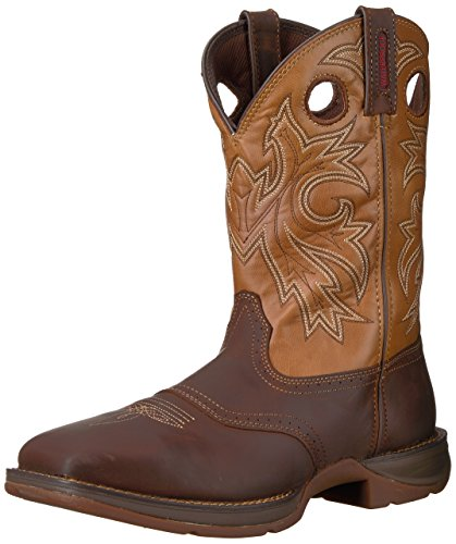 Durango Men's DB019 Western Boot, Brown/Tan, 10.5 M US (Toe Safety Boot Tan)