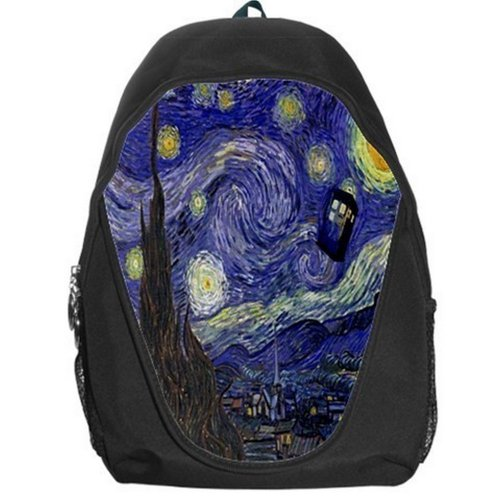 Doctor Who Tardis Van Gogh Starry Night Backpack