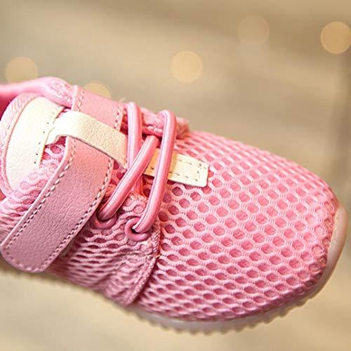 Boys La Crochet Unisexe Sneakers Rose Chaussures Croisé Formateurs Led Enfants Running Boucle Up Light Luminous Baby Girls Electri Du CqOatU