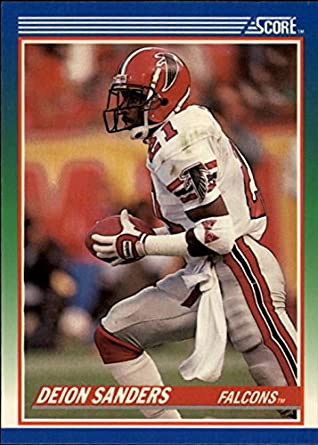 Amazoncom Deion Sanders Football Card Atlanta Falcons