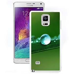 Fashionable Custom Designed Samsung Galaxy Note 4 N910A N910T N910P N910V N910R4 Phone Case With Water Drop Macro Leaf_White Phone Case