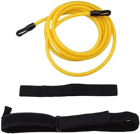Details about  /1 Set of Elastic Swimming Safety Rope Resistance Belt for Beginner