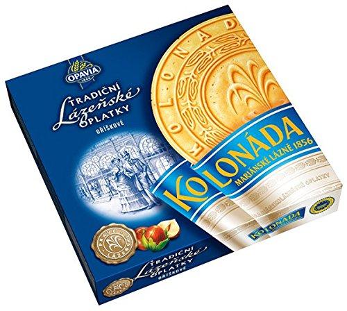 Opavia Tradicni lazenske oplatky Kolonada 175g Original Czech Spa Round Wafers with Nuts Filling (3-Pack) by Opavia