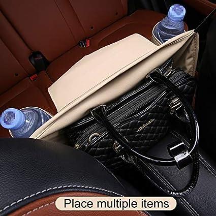 Zbgxbdfhncbnffd Car Avant Si/ège Hanging Sac en Papier Serviette//Tasse deau Sac de Rangement Noir Couleur : Black