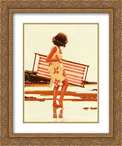 (Sweet Bird of Youth (Study) 2X Matted 16x20 Gold Ornate Framed Art Print by Jack Vettriano)