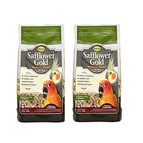Higgins Safflower Gold Natural Food Mix for Conures & Cockatiels - Pack of 2