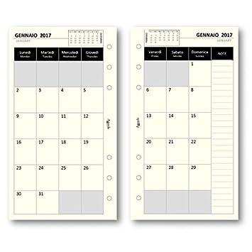 Recambio agenda 2017 mensual Marfil 9 5 x 17 Repuesto Agenda ...