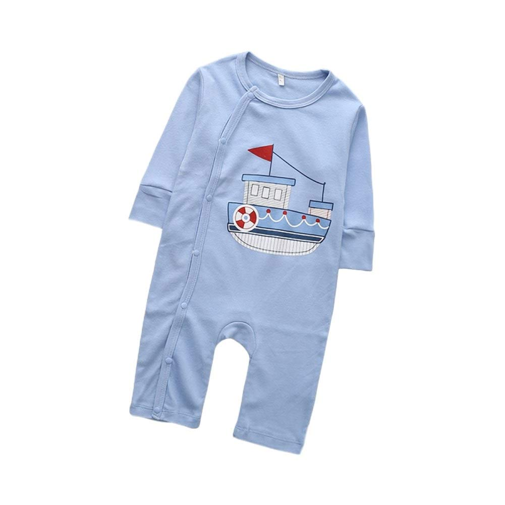 Eveliyning Unisex Toddlers Autumn Bodysuit Kids Casual Playwear with Cute Cartoon Printing Design Long Sleeve Cotton Romper Fashion Casual Snap Babys Romper Color : D, Size : 80cm 0-3T