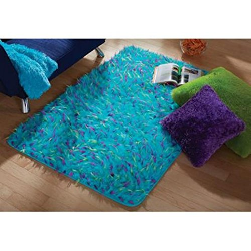 Dynamic Rugs Acrylic Rug - your zone blue spiker rug, 3' x 4'8