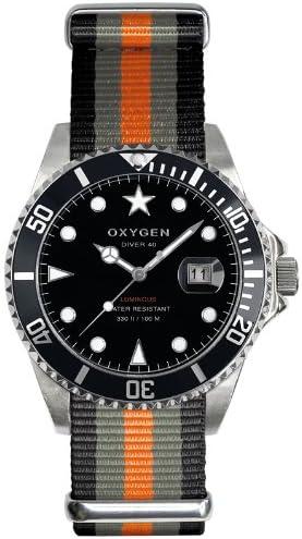 Oxygen EX-D-AMS-40-BLGROR - Reloj analógico de Cuarzo Unisex, Correa de Nailon (Agujas luminiscentes)