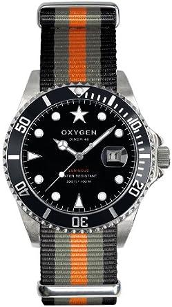 Oxygen EX-D-AMS-40-BLGROR - Reloj analógico de Cuarzo Unisex, Correa de Nailon Multicolor (Agujas luminiscentes)