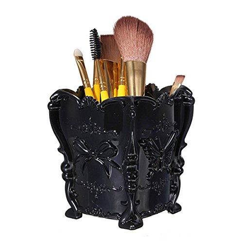 Brush Holder LuckyFine Butterfly Acrylic Makeup Holder Box Cosmetic Storage Holder Organizer Brush Pencil Pen Containers Display Stand,Makeup Organizer,Makeup Cup