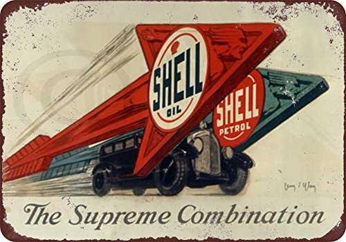 Shell motor oil Petrol gasoline vintage Reproduction Metal Sign 8 x (Motor Oil Reproduction)