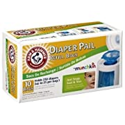 Munchkin Arm & Hammer Diaper Pail Refill Bags, 20-Pack