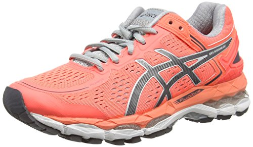 ASICS Gel-kayano 22, Damen Laufschuhe, Pink (flash Coral/carbon/silver Grey 0697), 41.5 EU