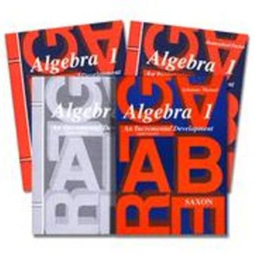 Saxon Algebra 1 Kit with Solution Manual 3rd Edition