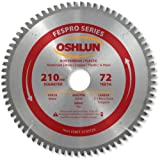30mm arbor blade - Oshlun SBFT-210072A 210mm 72 Tooth FesPro Non Ferrous TCG Saw Blade with 30mm Arbor for Festool TS 75 EQ
