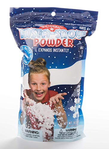 - Be Amazing Instant Snow Powder  - Bulk Class Party Pack - Great For Slime - Makes 8-10 Gallons of Artificial Fake Snow (454 Grams-1LB)