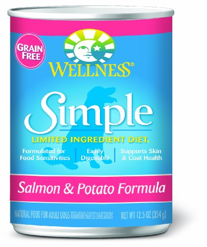 Wellness Simple Salmon and Potato Formula, 12.5-Ounce Cans, Case of 12, My Pet Supplies