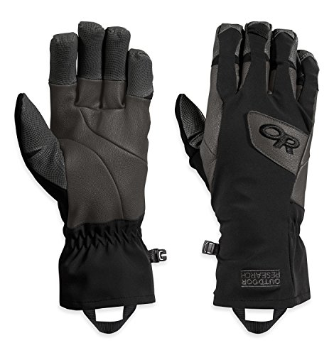 Outdoor Research Super Vert Gloves, Black/Charcoal, ()