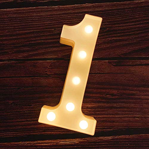 MUMUXI LED Marquee Number Lights Sign Light Up Marquee Number Letters Sign for Wedding Birthday Party Battery Powered Christmas Lamp Night Light Home Bar Decoration (1) (1 Christmas Number)