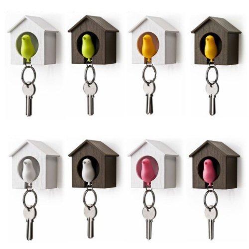 happu-store NEW Sparrow Bird Nest KeyChain Key Ring Holder H
