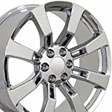 20x8.5 Wheels Fit GM Truck & SUV - Cadillac Escalade Style Chrome Rims, Hollander 5409 - SET