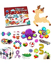 Zibersey Fidget Toy Advent Calendar 2021 Christmas Countdown Calendar 24 Days Fidget Toys Set Boxes for Kids