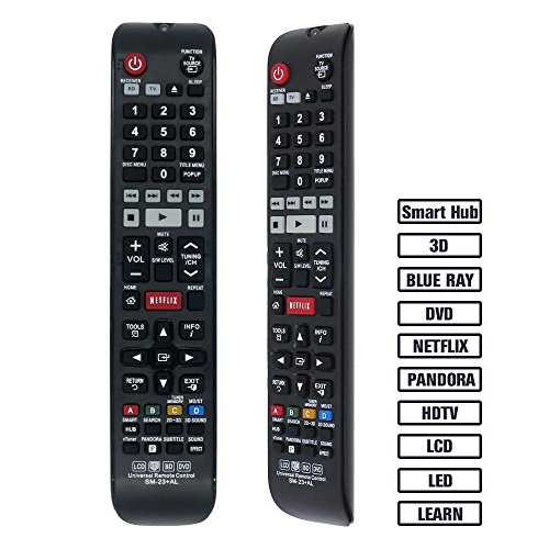 Gvirtue SM-23 Universal Remote ControlCompatibleReplacement for Samsung TV/ 3D/ 3D Sound/ LCD/ LED/ BD/ HDTV/ Smart TV, Applicable AA59-00580A, AA59-00784C, BN59-01199F, BN5901178W, BN59-01223A