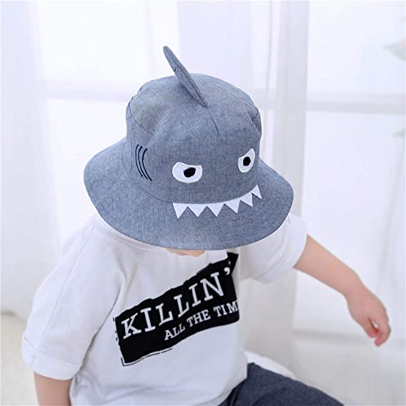 24d02eafa15 3D Shark Design Baby Sun Hat
