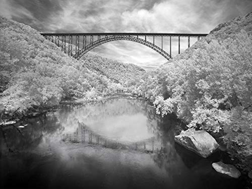 historic pictoric Fayette County, WV - 24in x 18in Photo - View The New River Gorge Bridge in Fayette County- Highsmith ()