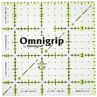 Omnigrid Omnigrip Neon 3-1/2-Inch Non-Slip Ruler, Square