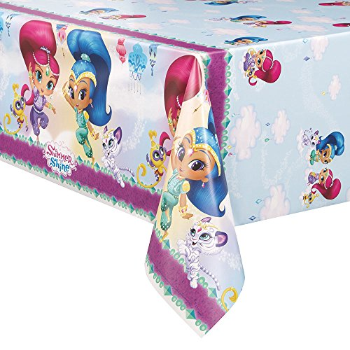 "Shimmer and Shine Plastic Tablecloth 84"" x 54"""