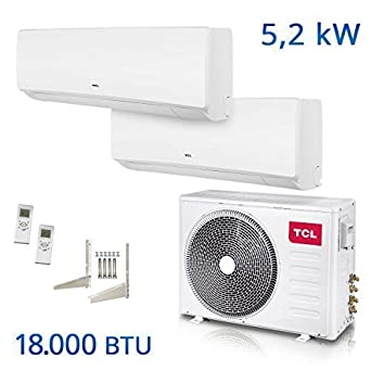 tcl dual split air conditioning 18000 btu multi inverter air conditioner a a titanium gold. Black Bedroom Furniture Sets. Home Design Ideas