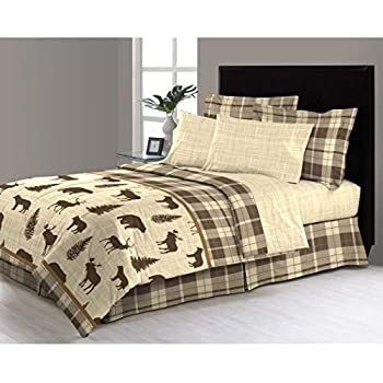 Amazon Com 8 Piece Tan Brown Hunting Themed Comforter