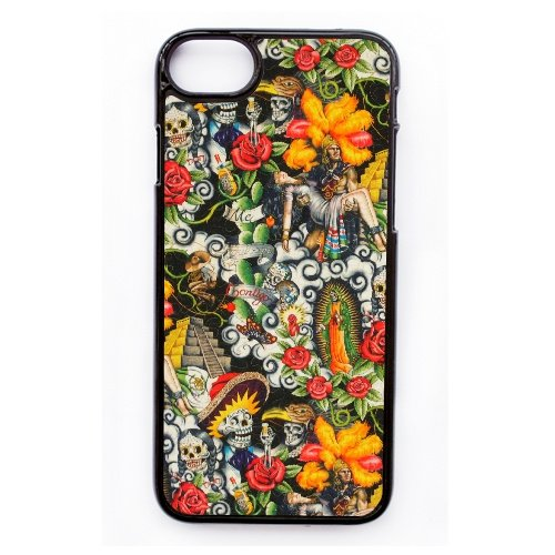 Coque,Apple Coque iphone 7 (4.7 pouce) Case Coque, Generic Aztec Day Of The Dead Cover Case Cover for Coque iphone 7 (4.7 pouce) Noir Hard Plastic Phone Case Cover