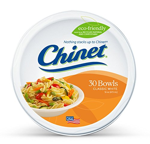 Chinet Classic White Large Bowls, 30-Count Packages  (Pack of -