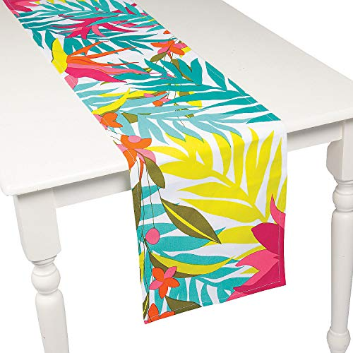 Fun Express Tropical Print Table Runner]()