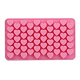 Zehui DIY Mold Silicone Ice Cube Candy Chocolate Cake Cookie Cupcake Soap Molds Mould (55 - Hearts)
