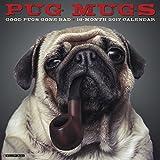 Pug Mugs 2017 Wall Calendar